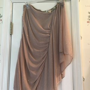 Taupe sparkly formal dress